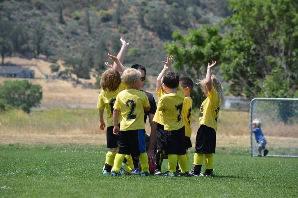 active children nutrition: even young children in sports team need good food for energy