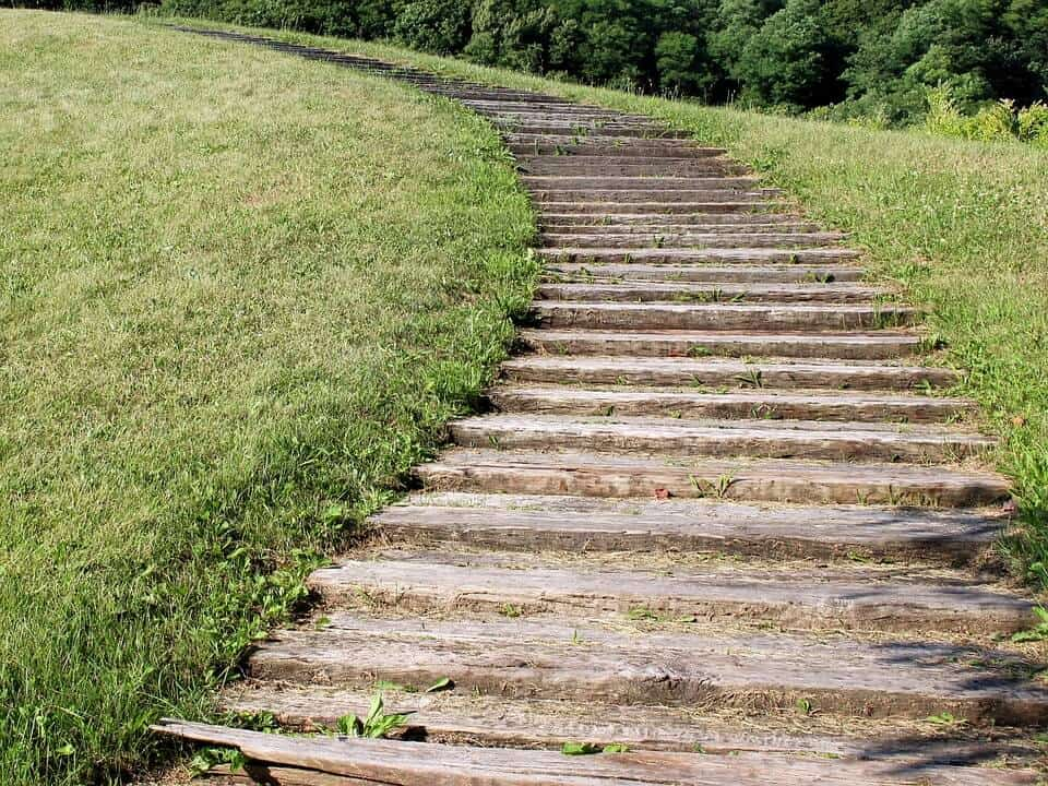 stairs in a park: perfect cardio workout