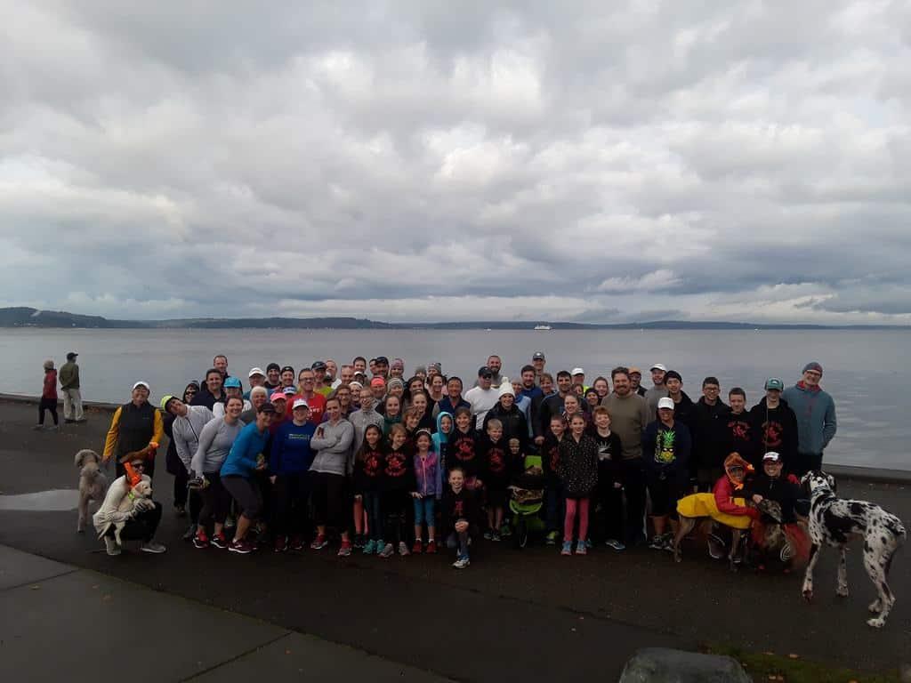 West Seattle Runner Group on Alki Beach, West Seattle