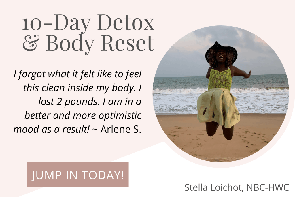 testimonial for detox and happy lady jumping on the beach