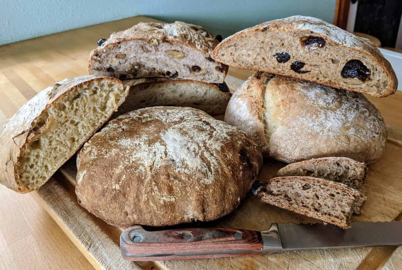 Selection of various bread types